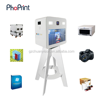 Portable Photo Booth Kiosk Printer Stand Flash Rod By Treasure