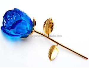 2019 Cheap artificial Flowers Send girl friend for Gift crystal rose