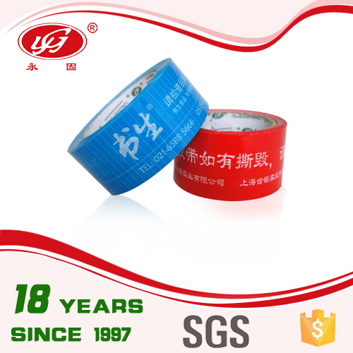 Bopp Water Acrylic Warning Tape Packing Tape