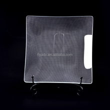The Clear Dissert Glass Tempering Charger Plate for the home decor