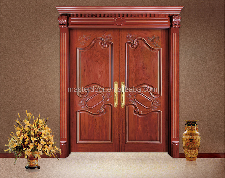 South indian hand carved wooden front double door designs for South indian main door designs