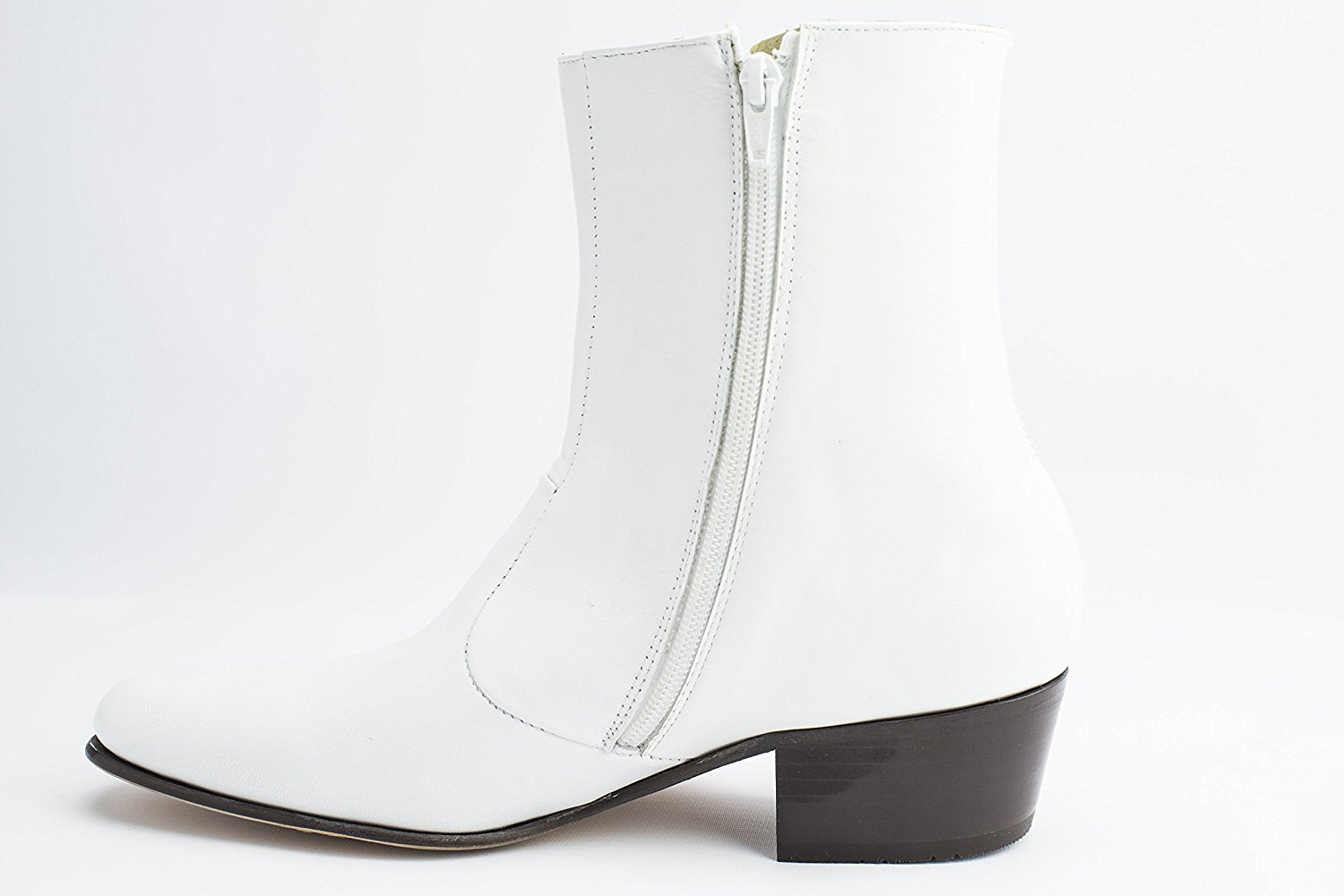 0347d28bc2a Buy Luciano White Elvis Costume Leather Boots for Elvis Tribute ...