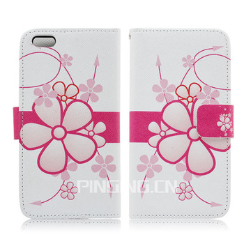 for iphone 6 case leather ,for iphone 6 case wallet,cell phone case floral leather protective case for iphone 6 4.7""
