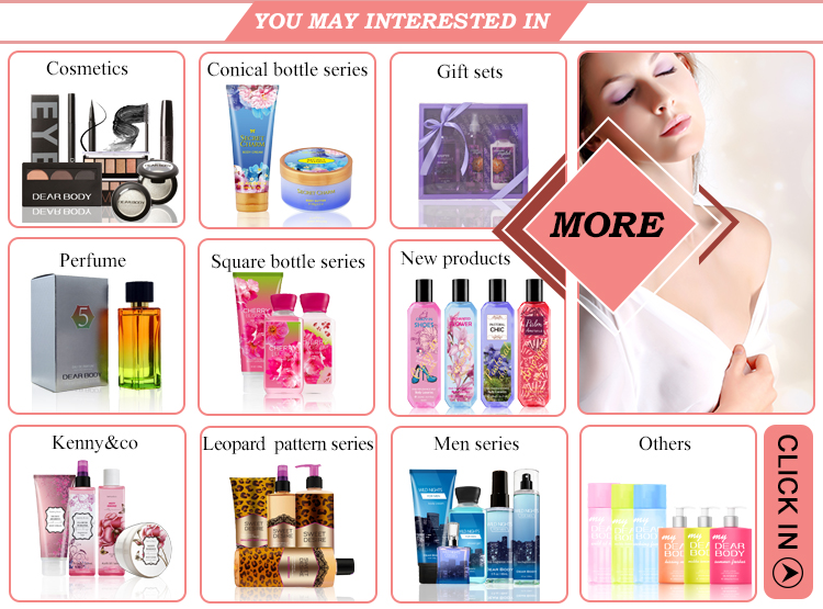 good quality Mini size body bath shower gel /fragrance mist /body lotion gift set for travel