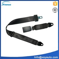 Insenyue reflective polyester safety belt 2 point car seat belt