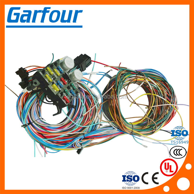 whole manufacturer 19 67 68 chevy camaro wiring harness 12 circuit wiring harness fuse holder high quality universal for any custom car hot rod auto