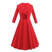 ZH0662C Western design ladies long sleeve woolen coat women winter coat 2017