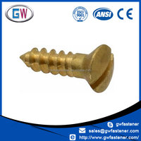 #16 #14 #12 #10 #8 #6 oval head brass wood screws