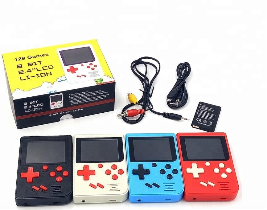 2018 New 129 Games Handheld Player 8 bit ideo Retro Game Console TV Game Console
