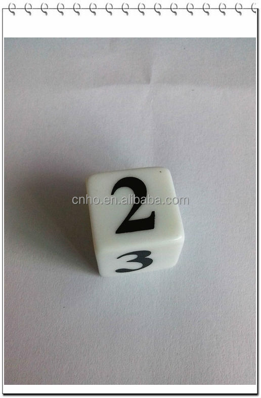 standard 16mm square corner export make plastic acrylic dice factory
