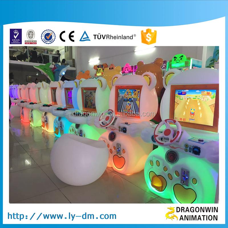 luces de colores led mini simulador de carreras de coches mquina de juego para los nios