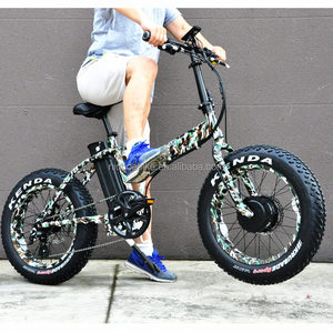 Top Quality Folding 20''x4.0 8FUN 48V 500W Geared Motor Beach electric bicycle quad bike