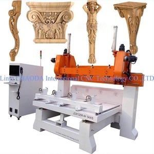 Multi Head 5 Axis Rotary 3D Wood Duplicator Carver, Multi-heads 4 Axis CNC Router