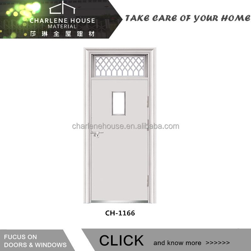 Steel Entrance Security Door With Glass Window For Apartments Buy