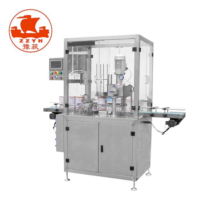 Automatic capping nitrogen vacuum packaging machine