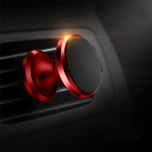 Металлический магнитный вращающийся на 360 градусов Автомобильный держатель для телефона держатель для мобильного телефона с креплением(China)