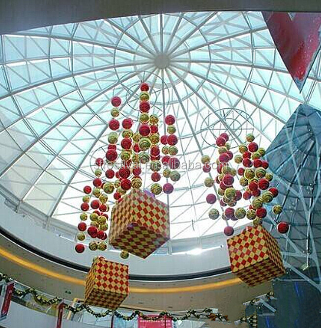 2015 hanging christmas decorations in shopping mall buy for Where can i find christmas decorations