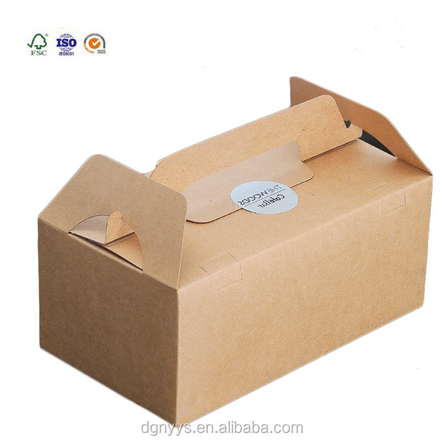 High Quality Creative Design Customized Logo Kraft Paper Food Packaging Boxes Lunch Box