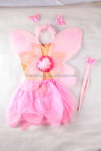 spring feeling pink fairy wing and skirt set flower pixie party dress for sale
