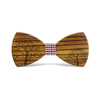 Really Wood Hipster Costom Men Women Bow-tie Cravat Wholesale Elastic Band Wooden Bow Tie