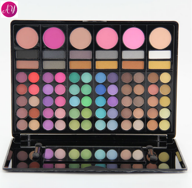 Aoyue best selling products on aliexpress Cosmetics Professional 78 Color Eyeshadow and Blusher Palette