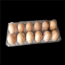 high pvc tray blister package egg tray 12 holes clear eggs tray for sales