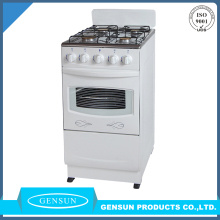 20 inch Home used freestanding 4 Burner Gas Range and oven full stainless stell body
