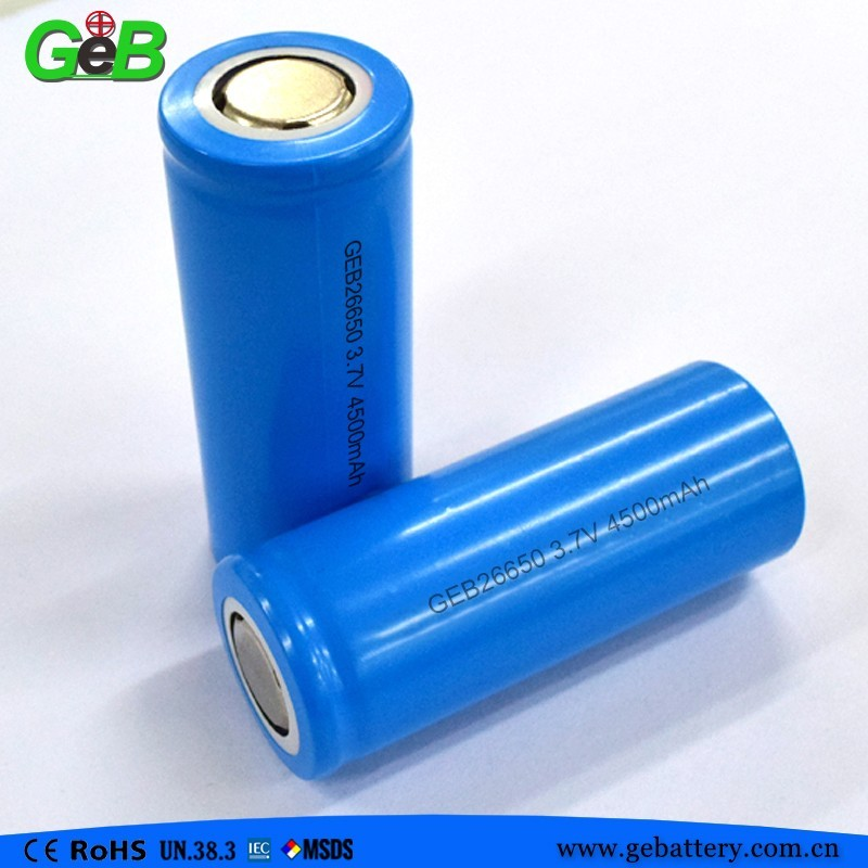 GEB26650 3.7V 4500mah cylindrical rechargeable li-ion single battery cell