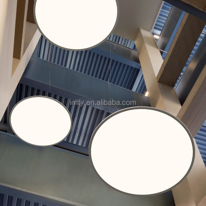 High Lumen Light Fixture 3000/4000/5000/6000K Round LED Flat Panel Wall Light With Big Power