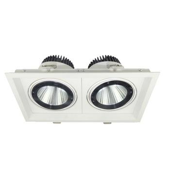 China Vertex Utilitech Lighting Double 2x13w 2x9w 2x18w Durable Cob Head Adjule Ings 2x26w Grill Downlight