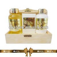 bath and body gift sets in wooden box bubble bath gift printed your brand