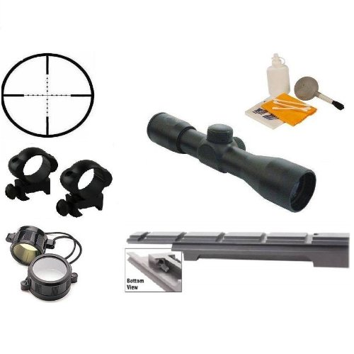 Ultimate Arms Gear Enfield Rifle Scope .303 NO.1 MK3 Rail Mount + 4x30 Mil Dot Scope + Scope Rings + Lens Covers + Lens Cleaning Kit