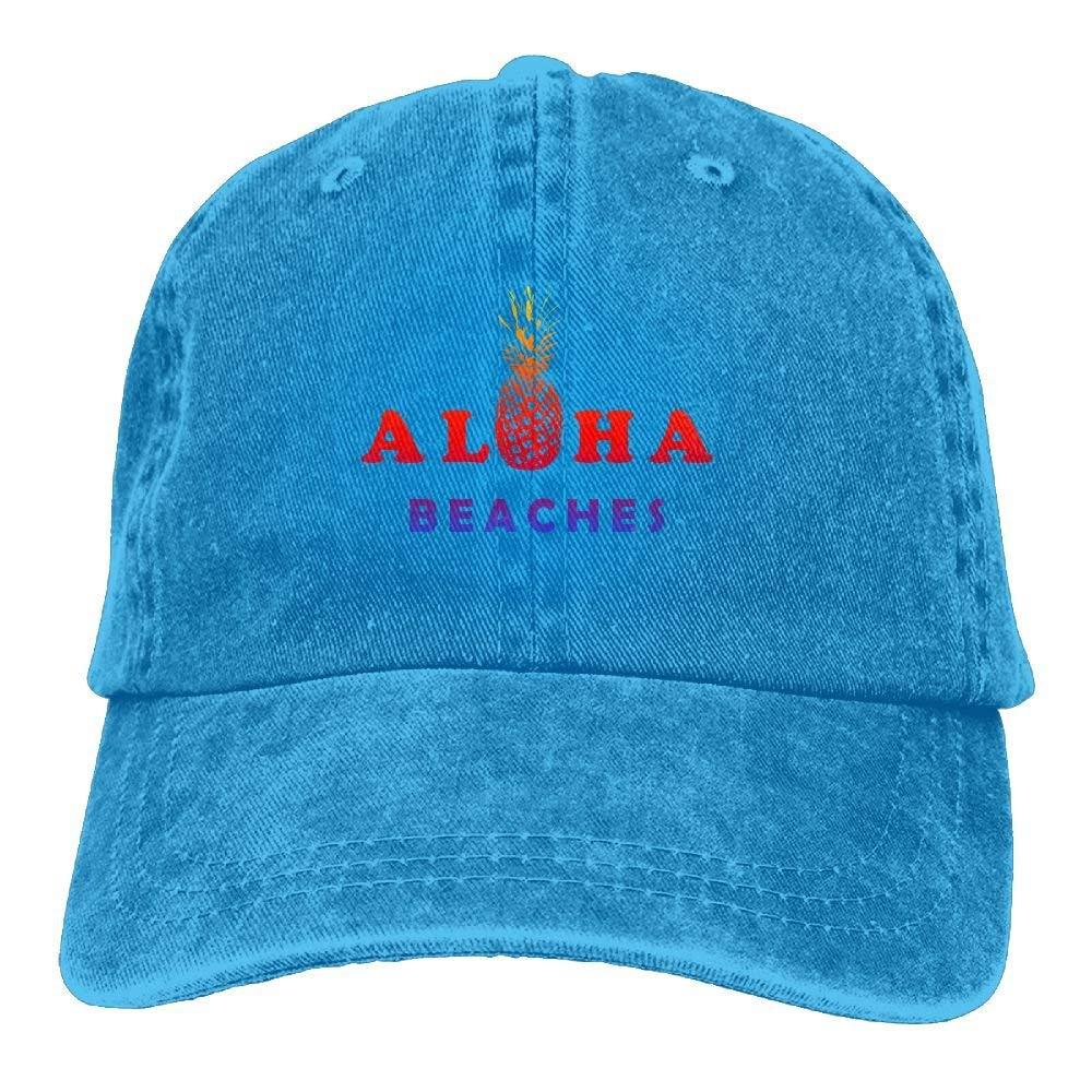 Adjustable Cowboy Style Baseball Cap Hat Aloha Beaches Pineapple Unisex Vintage Washed Dyed Cotton Plain Cowboy Cap