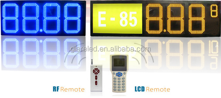 led gas price signs/ outdoor 4 digits gas price led signs/ led numbers display boards