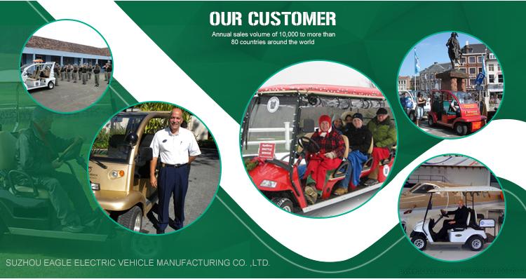 Solar powered golf cart, 6 passenger electric vehicle, EG2049ksf