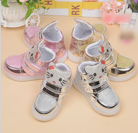 boys shoes children's Shoes Sneakers LED light shoes 3 colors wholesale