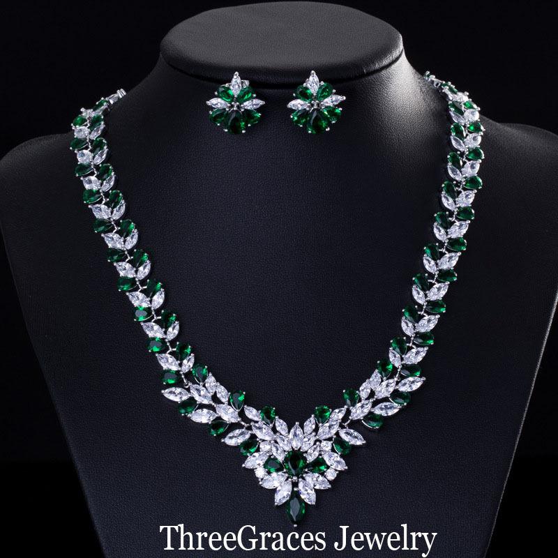 Elegant-Emerald-Green-Necklace-And-Earri