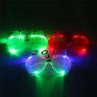 2018 new year glasses LED party cheap colored glasses kids sun glasses