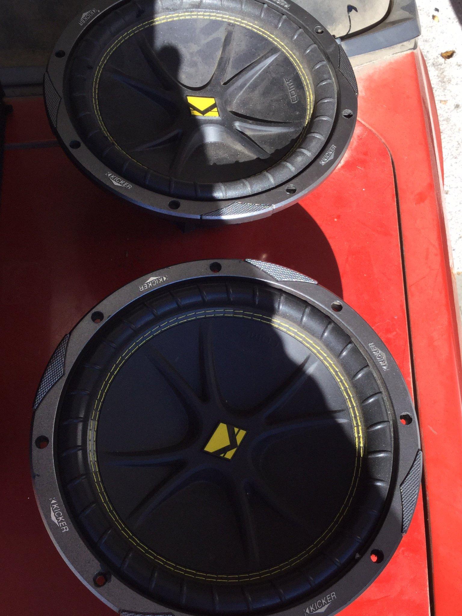 "Get Quotations · 2) New KICKER 10C104 Comp 10"" 600 Watt 4 Ohm Car Subwoofers  Combo C10"