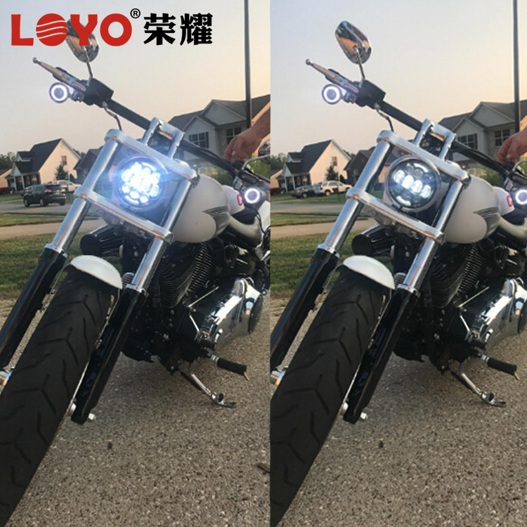 "Unique! Newest 80W 5.75"" harley led headlights 5 3/4 inch 5.75 inch round motorcycle led headlight for Harley Davidson"