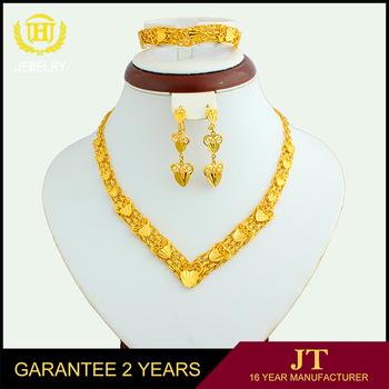22k Gold Jewellery Dubai Wholesale Jewelry Set Price High Quality