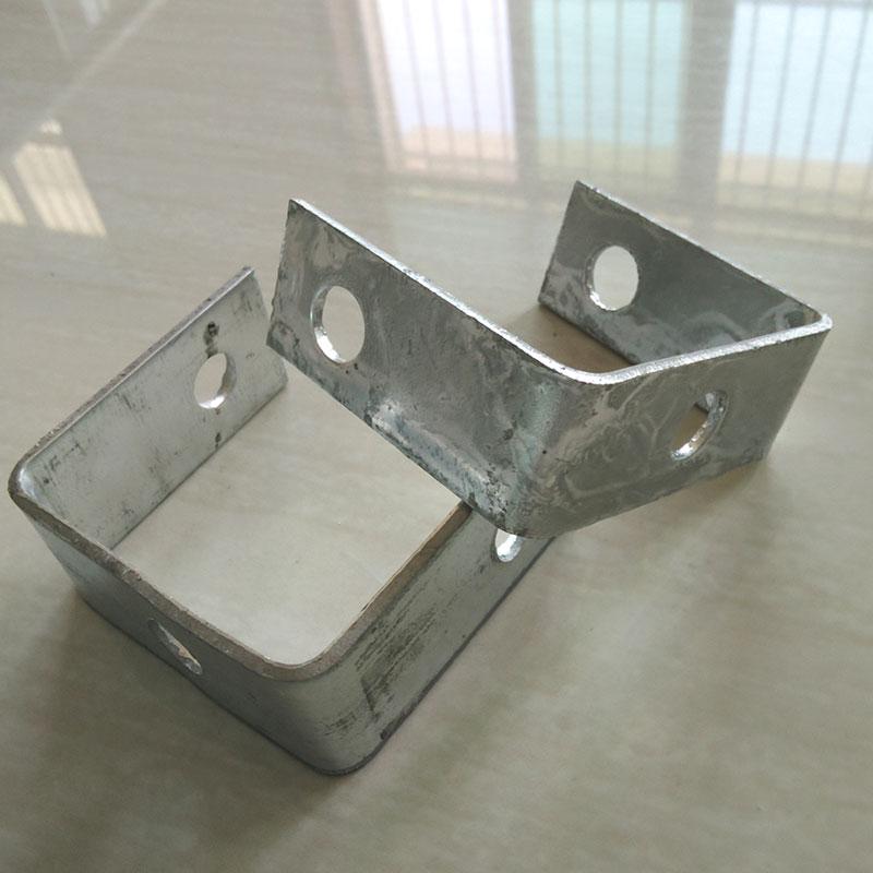 En forma de u soporte metal galvanizado fabricación