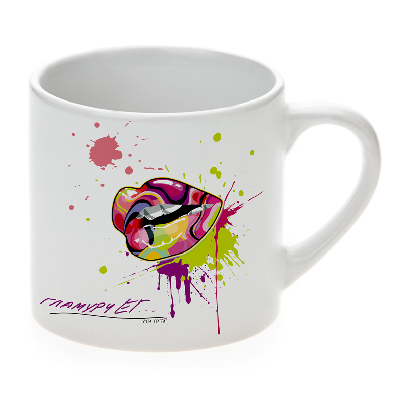 6oz Sublimation Small White Mugs Coffee With Printed Logo