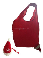 Foldable Christmas Bag With Christmas Hat