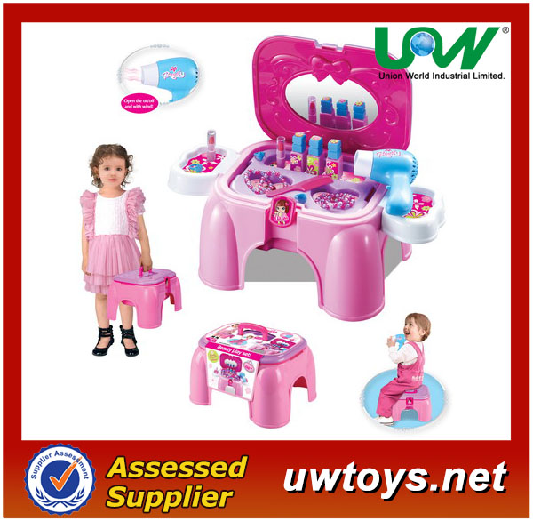 2014dresser chair play set toy, Dresser table chair toy,for Girls & Plastic