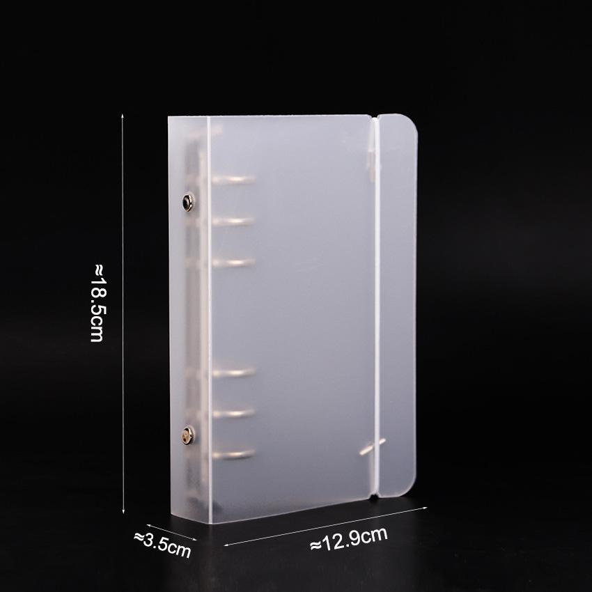 2020 A5 A6 Блокнот аксессуар лист оболочка офисная школа Канцелярские прозрачные лаконичные 6 отверстий переплет планировщик крышка(Китай)