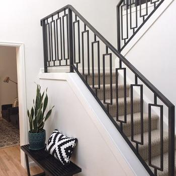 Decorative Indoor Steel Stair Railing Design And Iron ...