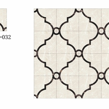 china manufacturer itanly cream marfil waterjet marble medallion designs