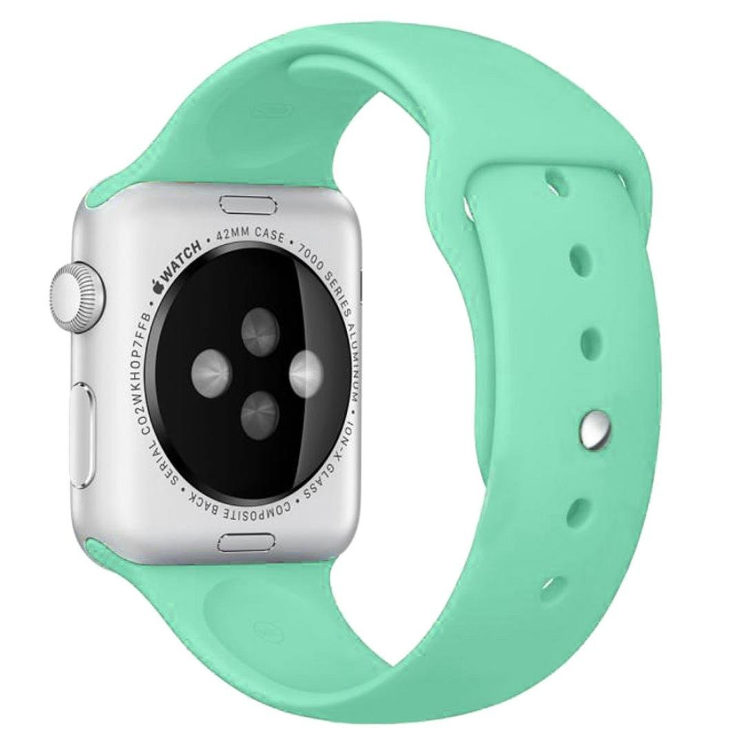 For Apple Watch Band , HP95(TM) Sports Silicone Bracelet Strap Band for Apple Watch 38mm/ 42mm all Model, Replacement, Adjustable Watch Band ( 38mm , Green)