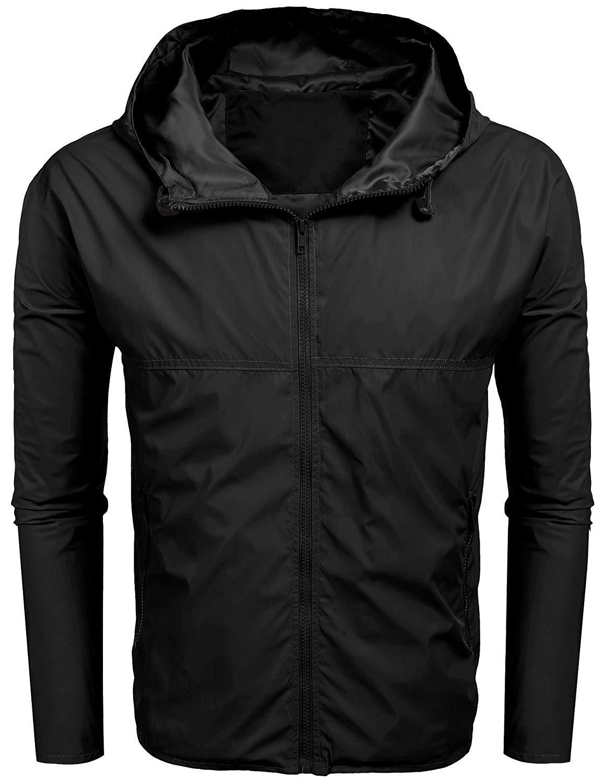 Yuntown Boys Girls Waterproof Lightweight Rain Jacket Packable Hooded Raincoats